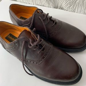 Timberland 8 oxford brown saddle shoes